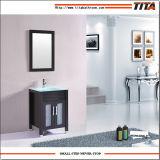 Тщета T9120-36W-a ванной комнаты античного типа стеклянная верхняя
