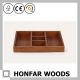 Cadre ou plateau de mémoire en bois du trellis cinq