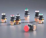Dia22mm-La118mの押しボタンスイッチ、赤いおよび緑色、6V-380V電圧