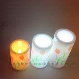 Belle candele di plastica ornamentali elettroniche personalizzate della colonna della pittura LED di natale