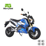 青年様式のファッションモデルの電気オートバイ