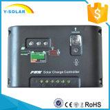 セリウムのRoHS 10I欧州共同体を用いる太陽系のための10A 12V/24Vの太陽電池パネルの料金のコントローラ