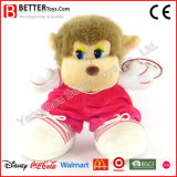 Mono suave del animal relleno de los juguetes del paño colorido