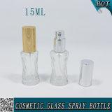 15ml小型明確で装飾的なガラス香水スプレーのびん