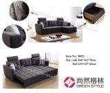Wohnzimmer-Ecksofa-Bett (mit Speicherung)