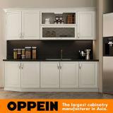 Oppein Europa blanco del estilo del gabinete de cocina pequeña muebles de cocina (OP16-PVC07)