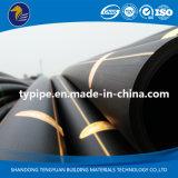 Tubulação plástica do HDPE do preço razoável para o gás