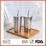 Vakuum Isolierbecher-Fischen-Kaffeetasse des arbeitsweg-16oz mit Kappen-Edelstahl-Trommel-Vakuumkolben