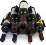 Design compacto de armazenamento de garrafas de 8 garrafas de madeira Wine Display Rack