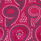 党布のための紫色アイレット綿のレースファブリック