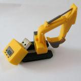 A placa da movimentação do flash do USB do PVC das idéias do presente do gancho da máquina escavadora pode ser 256GB personalizado