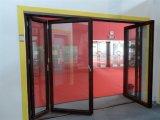 Dobradura de alumínio do vidro do tamanho padrão/porta Bifold/porta de Bifolding