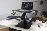 "Loctek 31 "" 넓은 플래트홈 고도 조정가능한 서 있는 책상 라이저는, 앉 서 있다 워크 스테이션, 검정 (MT103M-PT)를"