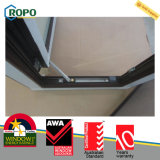 Negro Color de ventanas de PVC, dos Sash UPVC Oscilo de Windows con As2208 Glass