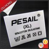 Etiqueta tecida vestuário do logotipo do tipo de lãs do profissional 100% da fábrica