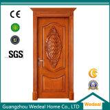 Personnaliser la porte en bois intérieure à extrémité élevé avec du matériau solide de faisceau