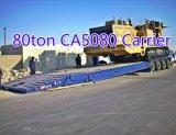 O carregamento CAT5080 dianteiro 4 eixos lowbed o reboque, baixo reboque do carregador