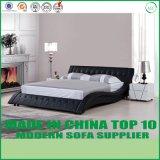 Re moderno Size Bed di vendita calda con cuoio bianco