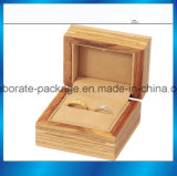 Коробка роскошного пакета ювелирных изделий коробки подарка коробки кольца упаковки твёрдой древесины деревянная с светом СИД