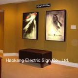 壁に取り付けられたアルミニウムメニューボードのために細いLEDのライトボックスを広告すること