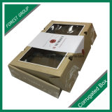 frutas onduladas caixa do empacotamento e de transporte de Apple de uma flauta