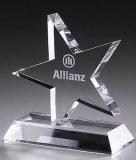 Trofeo cristalino de la concesión de la estrella de la alta calidad de la venta de la fábrica para la decoración