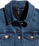 Cotton&Polyesterのレーヨン、スパンデックスのSuperstretchのデニムレディースジャケット
