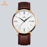 Relógio ocasional 72729 do relógio de pulso de quartzo dos homens da forma do aço inoxidável da promoção