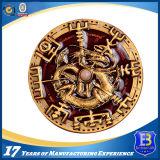 pièce de monnaie en laiton antique de souvenir du ramassage 3D avec le trou coupé (Ele-C220)