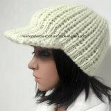 100% Исландия Шерсть, ручная работа Мода Вязаные шапки с козырьком