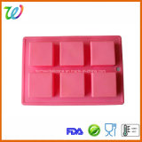 Kammer-quadratisches Silikon-Kuchen-Tellersegment des Fabrik-Großverkauf-6