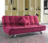 Sofà di cuoio dei nuovi di disegno del salone piedini del metallo (UL-NS421)