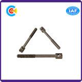 Pin Leal entalhado da cabeça de cilindro de Rod do aço de carbono/parafuso com furo