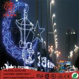 Luz amarela da corda do motivo do diodo emissor de luz para a decoração de Ramadan com Ce RoHS