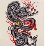 Etiquetas engomadas temporales impermeables del tatuaje del diseño de moda del dragón