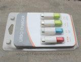 Ligne de caractéristiques d'USB ampoule pliée