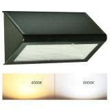 48 LED Radiateur au micro-ondes à solaire extérieur Radar Lumière capteur de mouvement Lumière de sécurité sans fil 800lm / lumières mur / lumières de nuit avec 4 mode d'éclairage