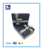 Rectángulo de empaquetado del embalaje de lujo magnético negro de encargo de la cartulina