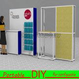 Mur modulaire portatif fait sur commande de dos d'exposition de salon avec des étagères