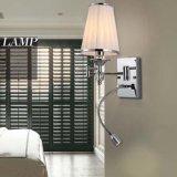Lumière de lampe de mur de bougeoir du relevé du tissu DEL de mode pour la chambre à coucher