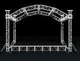 fascio di illuminazione del fascio della fase del tetto dell'arco di Metà-Moom dell'alluminio di 34X34X26FT