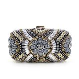 Saco de noite luxuoso da senhora Desenhador Glittering Cristal Frisado da forma Handmade da bolsa