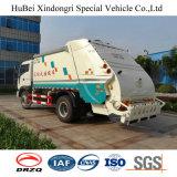7-8cbm Foton 유로 4 배럴 Yuchai 엔진을%s 가진 도는 쓰레기 쓰레기 압축 분쇄기 트럭