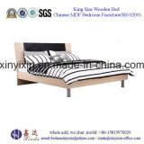 Base de madera del Sigle para los conjuntos de los muebles del dormitorio del hotel de Dubai (SH-020#)