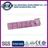 Caja portátil grande de la píldora de la capacidad 7 con 3 compartimientos