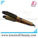 Uso Multifunction 3 em 1 Straightener do cabelo & encrespador & escova