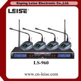 Микрофон радиотелеграфа UHF частоты каналов Ls-960 4 ультракрасный автоматический