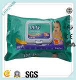 Wipe organico poco costoso prefabbricato professionale del bambino con i recipienti di plastica