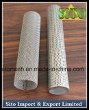 Tube filtrant de treillis métallique d'acier inoxydable