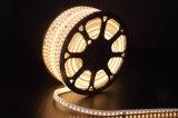 110V / 230V impermeabilizan la luz blanca de la cuerda del LED la tira blanca del alto brillo 5050 LED